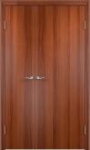 Двустворчатая межкомнатная дверь глухая итальянский орех
